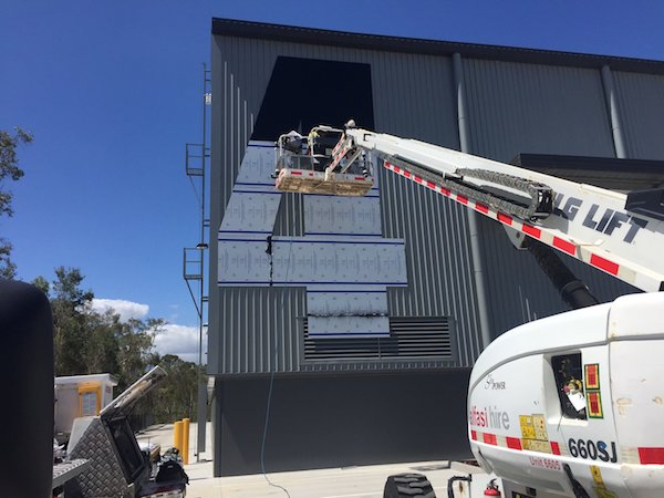 installing ACM cladding photo Bentleigh Group