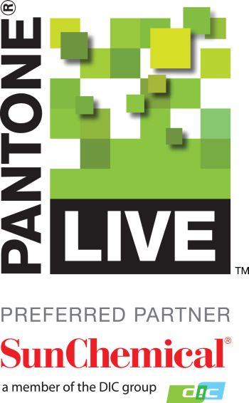 PantoneLIVE logo with Sun Chemical