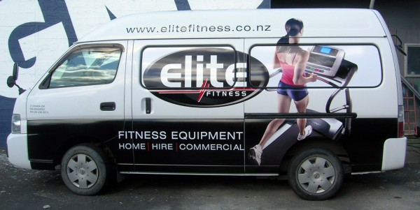 DD Elite fitness vehicle wrap